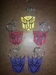 Transformers Emblem Keychains by AnimeCitizen