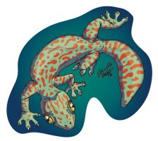 Gecko Sticker by digital-blood