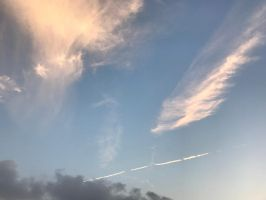 Cirrus and Contrail by RiverKpocc