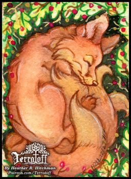 Kitsune Collection #10 Sleeping Soundly by HeatherHitchman