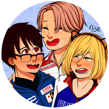 Yuri on Ice Pins Design by nise-here