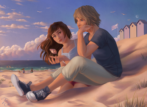 Sunset by the Sea by Blunell