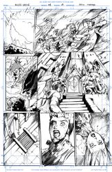 Night Wolf Comic Book Issue #1 Page #3 Sketch by RAM-Horn