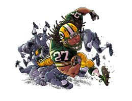 Eddie Lacy of the Green Bay Packers by RobbVision