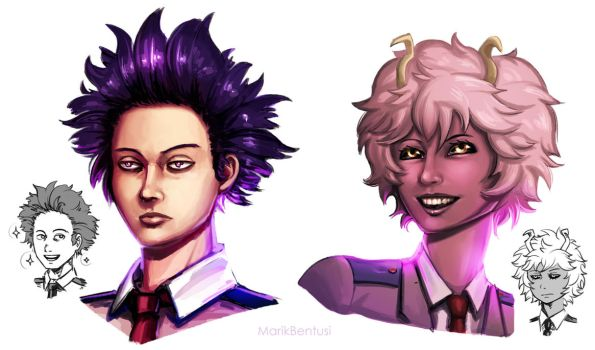 My Hero Academia: Shinso and Ashido by MarikBentusi