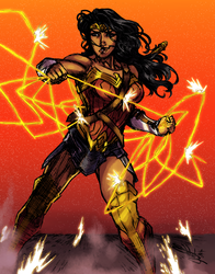 Wonder Woman Colored by GhostlyElegance