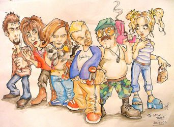 The Cast of SPACED by kique-ass