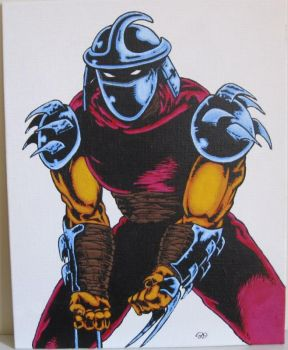 TMNT Shredder 8x10 acrylic on canvas by plasticplayhouse