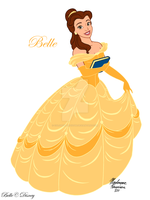 Belle - Beauty and the Beast by ColorfulArtist86