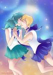 Uranus and Neptune Art Finished  by Red-Baby