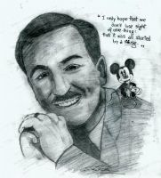 Mr. Walt Disney and Mickey Mouse by Dedde94