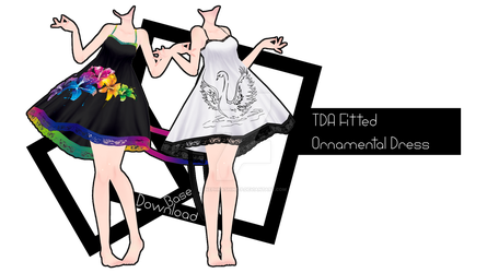 :DL: TDA Fitted Ornamental Dress [THANK YOU 1,400] by NEPHNASHINE-P