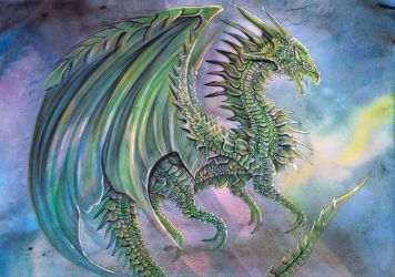 Green Dragon by dawndelver