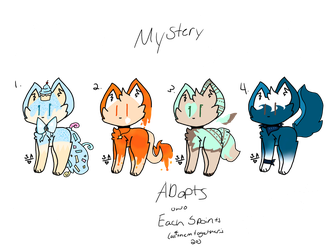 Moar mystery adopts! (Closed lol) by SilverrAnimations