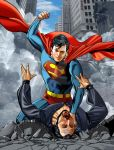Superman against Zod by hamletroman