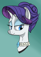 Rarity Portrait by Blastdown