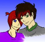 Chris and I by NeonBloodRose