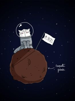Space Cat Gravity by PattesDeVeloursAndCo
