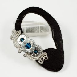 Blue and Silver Washers Ear Cuff - GIVEAWAY by Gailavira