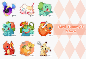 Pokemon Stickers by SeviYummy