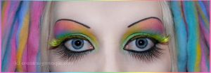 . pastel rainbow make-up . by Countess-Grotesque