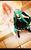 Vocaloid - Chocolate Mint, Strawberry Cream by aco-rea