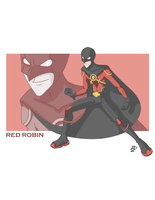 Red Robin Animated Style by AMDiazArt