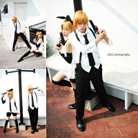 Vocaloid : Mafia Rin and Len by z3LLLL