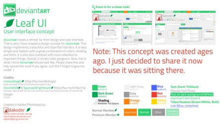 dA Flat Proposal/Concept - Leaf UI (Old) by DaKoder