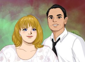 Shirley and Dave's Anime Portrait Colored by EmilyCammisa