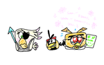 Angry Birds Undertale - Poppy, Bubbles, and Dahlia by AngryBirdsStuff