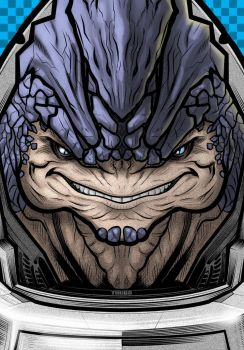 Grunt Mass Effect Commission by Thuddleston