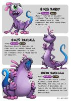 #028 Randy - #029 Randall - #030 Ranzilla by Ry-Spirit