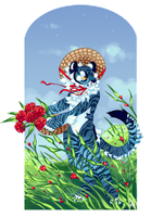 Anthro w BG for Celloco!! by feltstickers