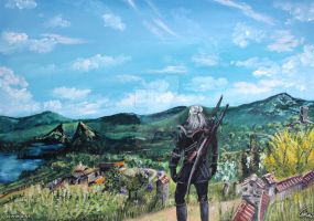 Geralt in Toussaint by Aronja