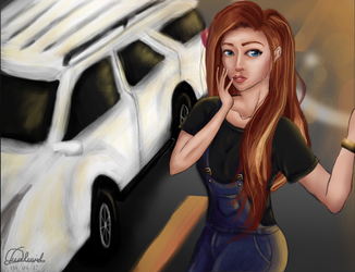 Red Hair's Car by Avairo