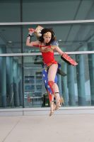 Ame-Comi Wonder Woman- Coming in for the Landing by shelle-chii
