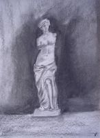 Venus of Milo Charcoal by Mutany