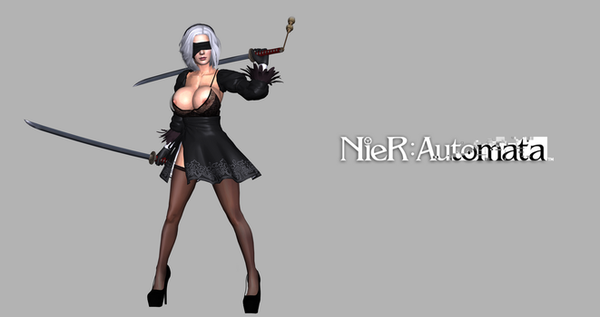 Nier: Automata 2B Remastered by valray3