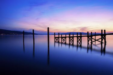 The jetty on the island of Reichenau by LinsenSchuss