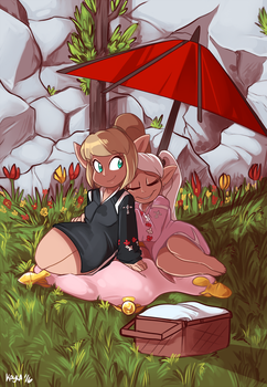 A Picnic in Mist by Kayla-Na