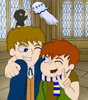 Newt Scamander And His Son by InvaderOfFandoms