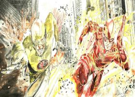 Flash vs Flash reverso by Breno Moreira by BrenoMoreira
