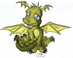 Puppy Eyed Dragon by pdutogepi