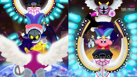 Kirby in Robobot Planet and Meta Knight Version