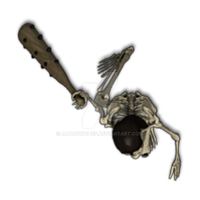 Skeleton with Club 1[club,skeleton,token,monster,b by Madcowchef
