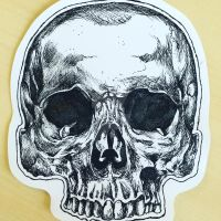 Skull in Ink by usmelllikedogbuns