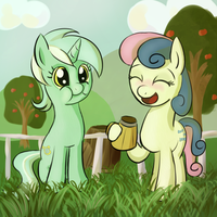 Lyra and Bon Bon by fajeh