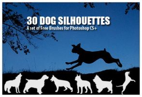 Dog Silhouettes - PS Brushes by fiftyfivepixels