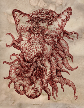 Azathoth, the Blind Idiot God by hawanja